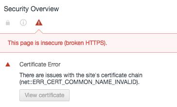 Certificate Name Mismatch