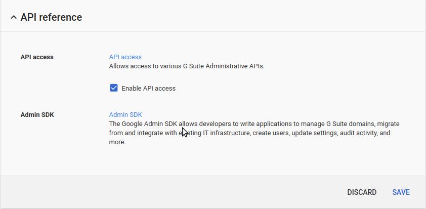 Google Apps API Access