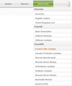 Making Purchases via ClearOS 5.x Webconfig