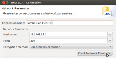 Connect Apache Directory Studio to Samba 4 on ClearOS