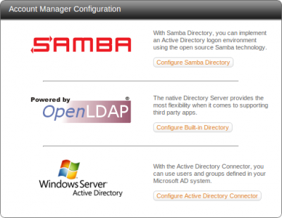 ClearOS Account Drivers - Samba 4, OpenLDAP and Active Directory Connector