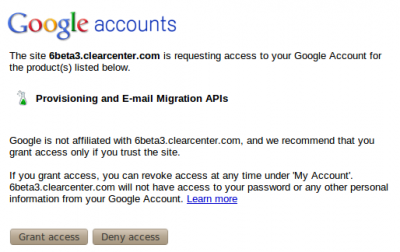 Google Apps - Grant Access to ClearOS