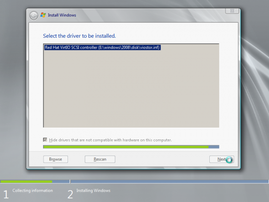 Wait for Windows to install the driver