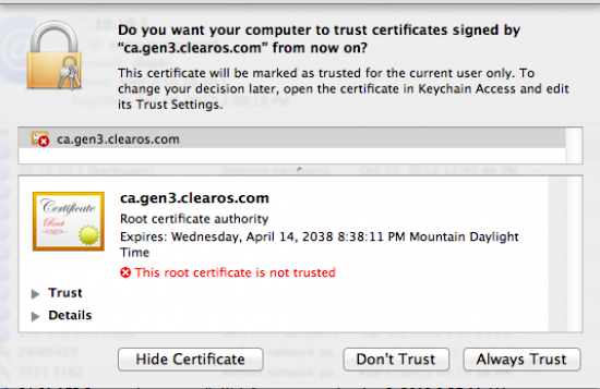https://clearos.com/dokuwiki2/lib/exe/fetch.php?w=550&tok=aa36b1&media=documentation:clearos_guides:osx_confirm_trust_in_keychain.png