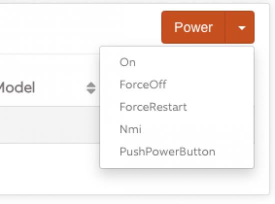 iLO Servers iLO View Power Options