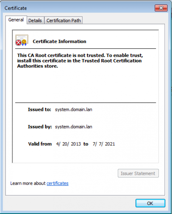https://clearos.com/dokuwiki2/lib/exe/fetch.php?w=550&tok=f0d792&media=documentation:clearos_guides:old_certificate_not_from_ca.png