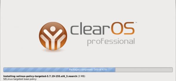 ClearOS Installer - Progress